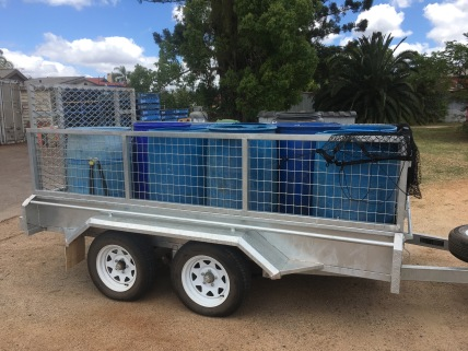 Trailer loaded with green waste