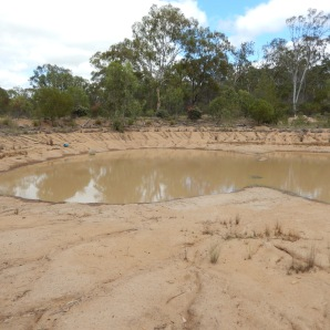 House dam before the rain