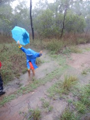 Kids and roads in flood