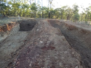 top trench with ramp