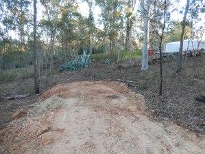 Road at beginning of excavation