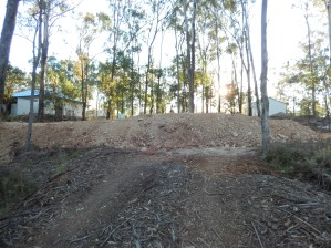 Terrace bank from existing roadway