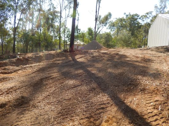 Woodchip covering damaged areas