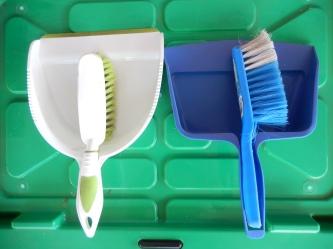 Brush and shovels