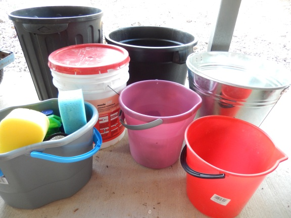 Assortment of buckets