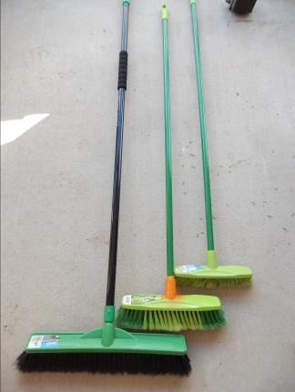 Assortment of brooms