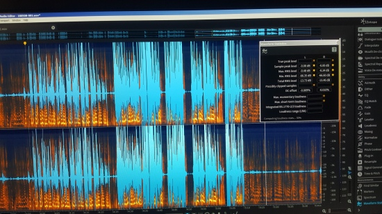 Sound editing software screenshot