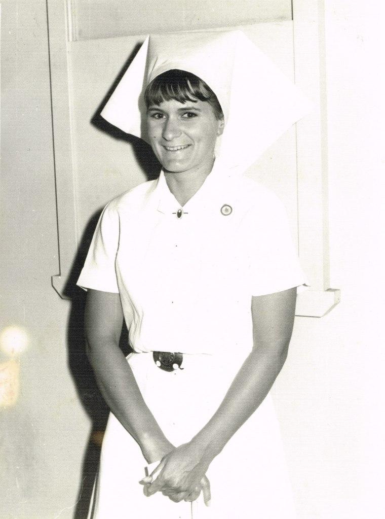 In nurses uniform