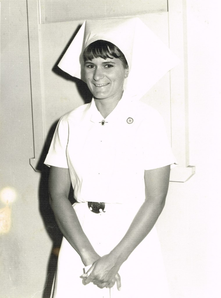 In nurses uniform