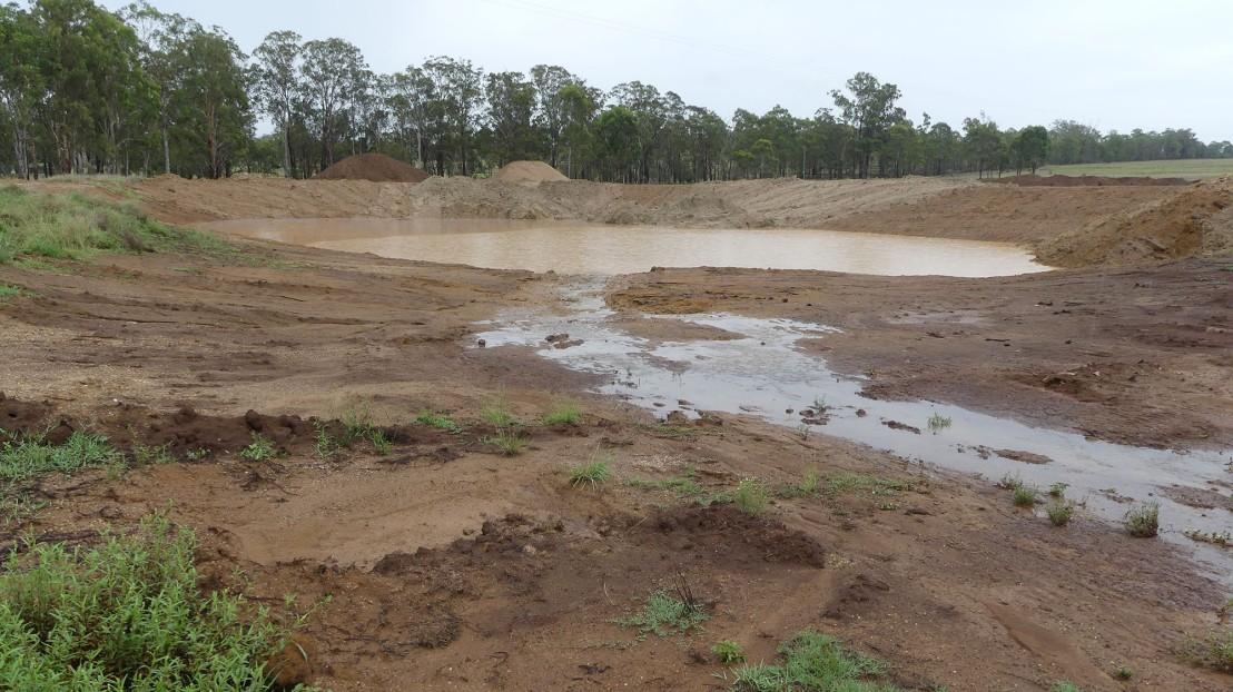Caretaker's Residence dam, 11 February 2020