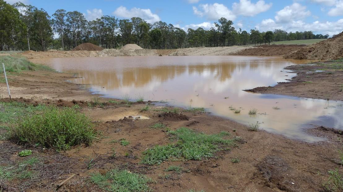 Caretaker's Residence dam, 13 February 2020