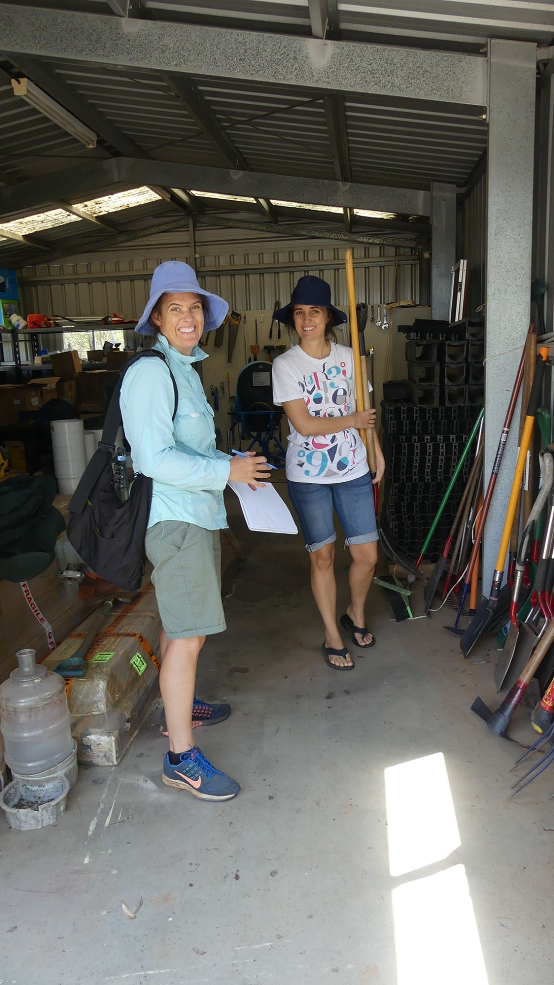 Mary & Eloisa trialling a seeding experiment
