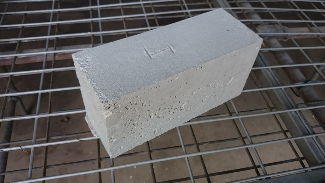 Closeup of Test 1 Brick