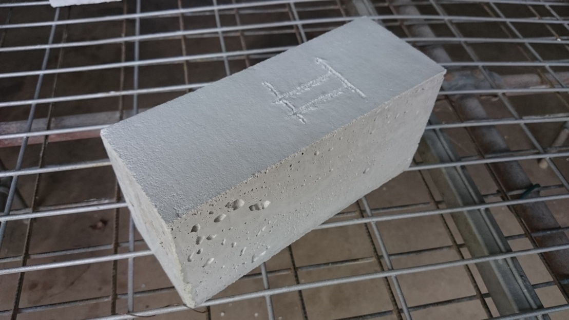Closeup of Test 2 Brick