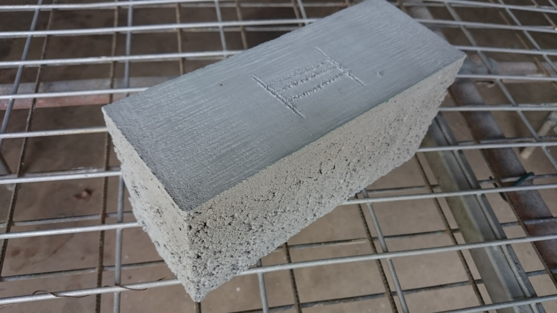 Closeup of Test 3 Brick