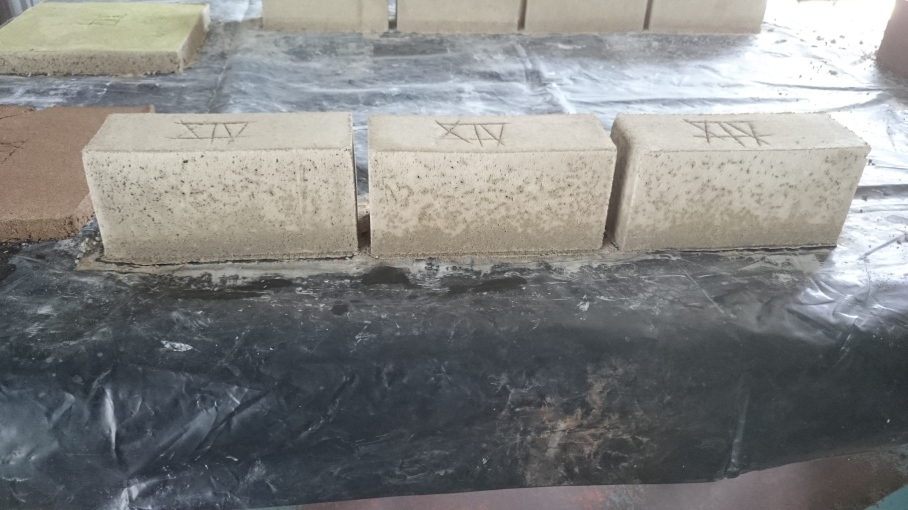 Completed test batch on table