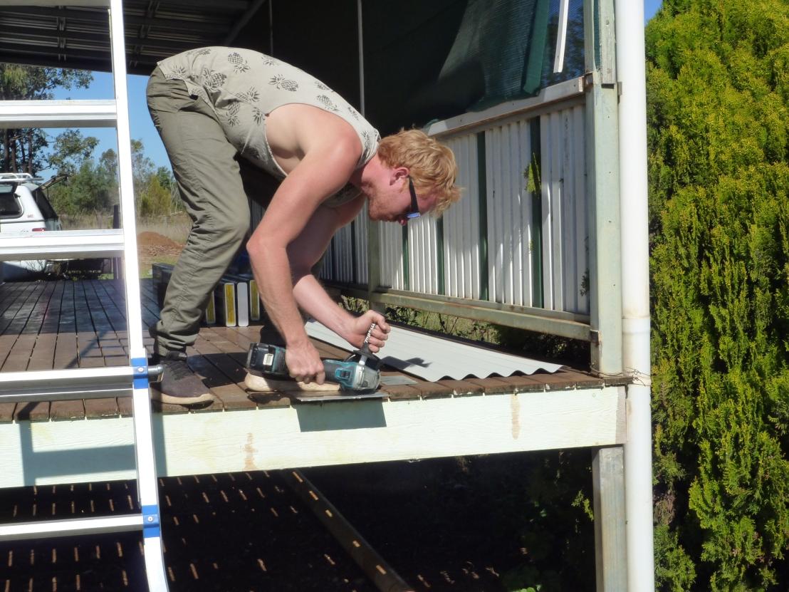 Jadda at work on the Function Centre Caretaker's Resisdence Renovation