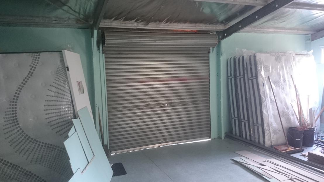 Old roller door