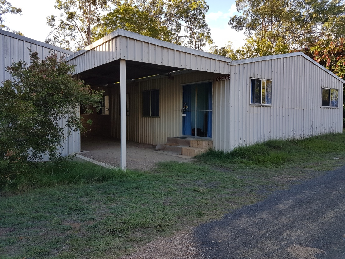 The existing office shed on the property