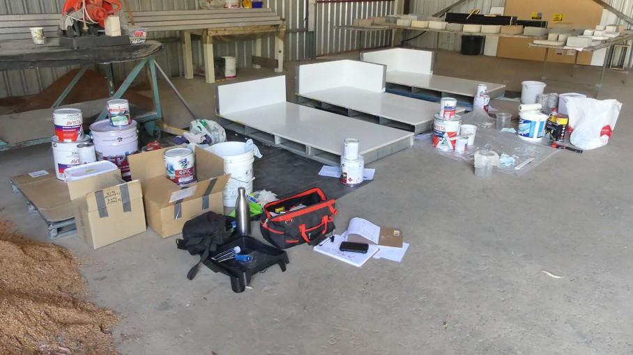 Materials & Equipment for flooring experiments