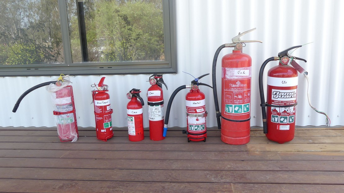 Fire Extinguishers from various vehicles and properties, to be serviced