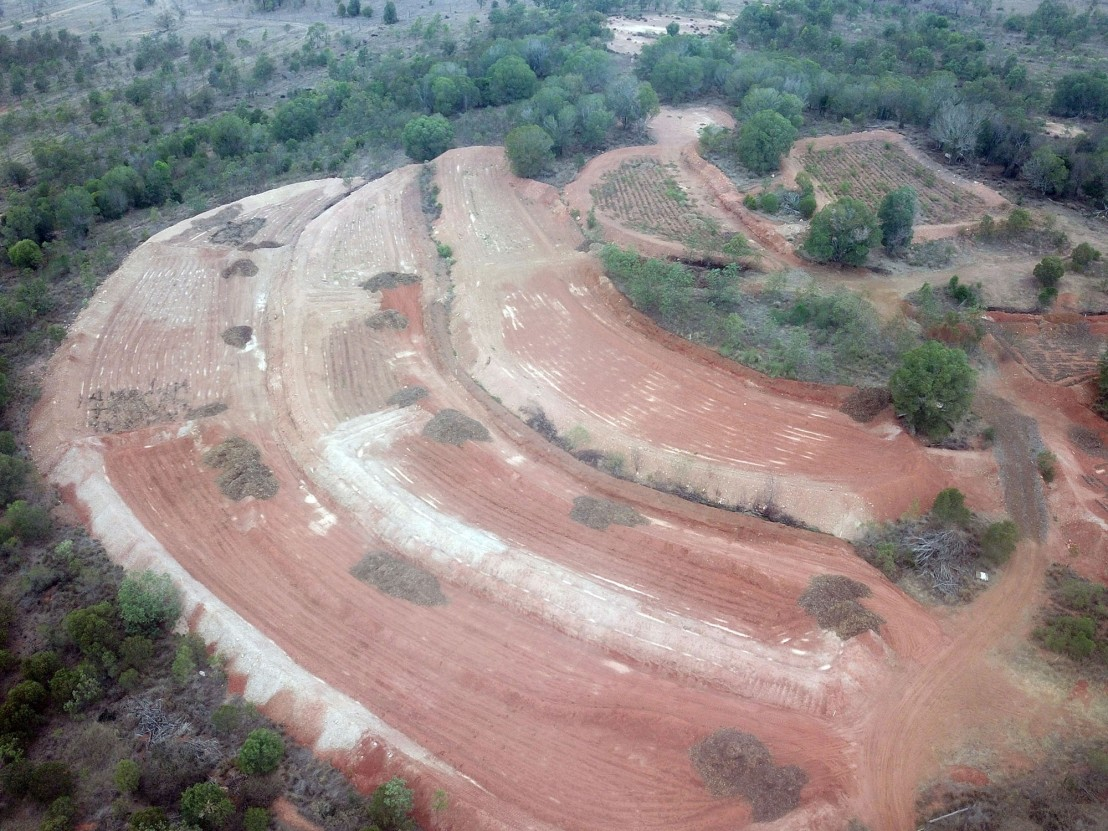 Aerial view of the Cushnie Function Centre Terraces Project