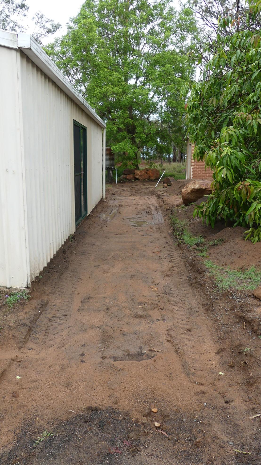 Hostel pathway preparation, February 2020.