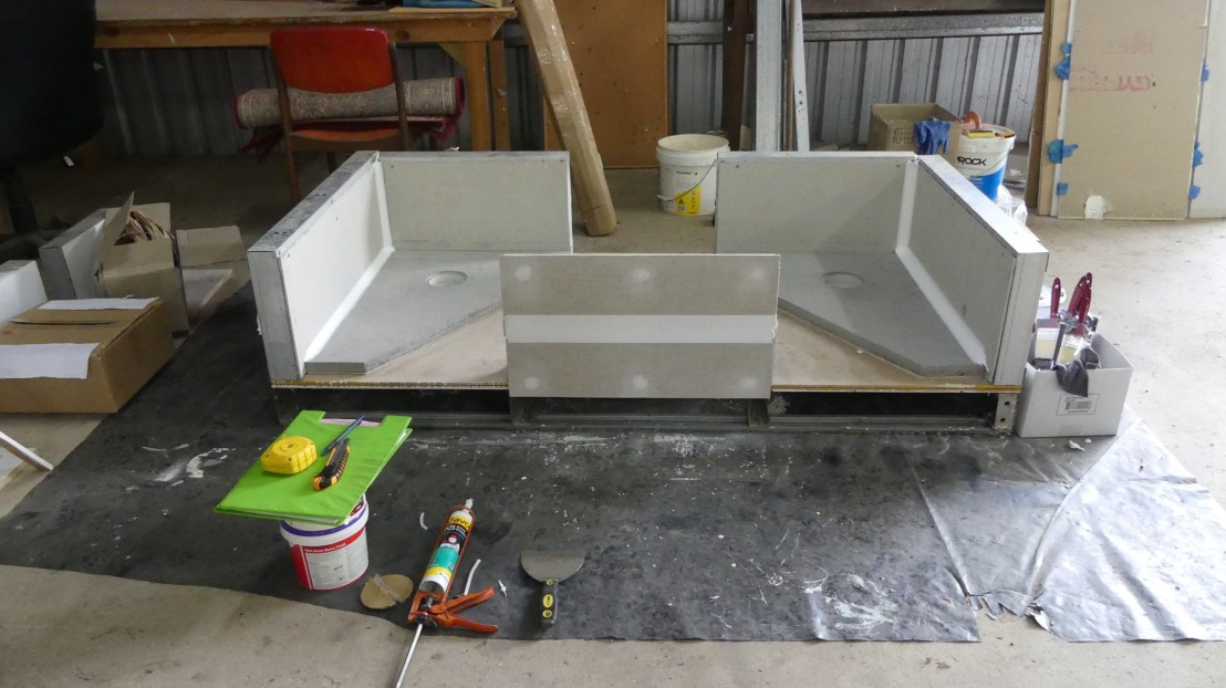 Waterproofing membrane simulation experiment, April 2020.
