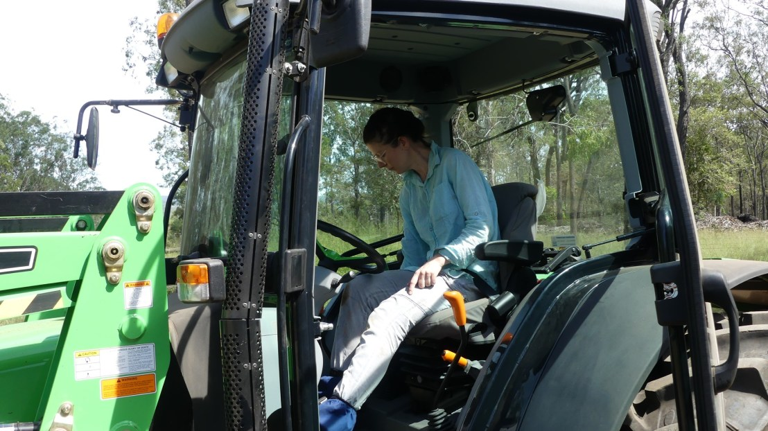 Tractor operation training, April 2020.