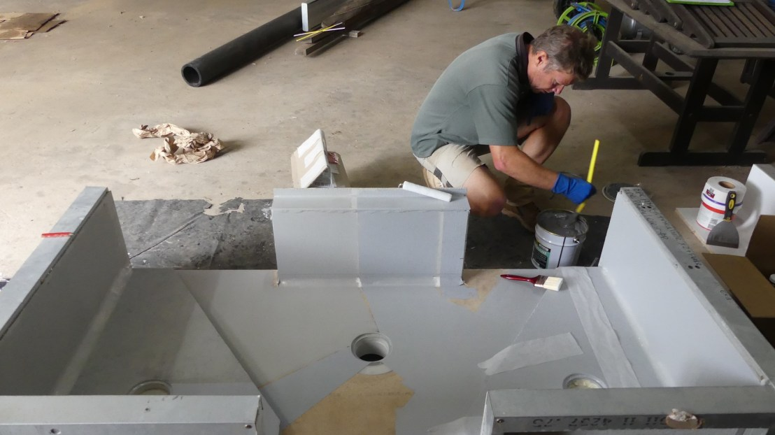Corny experiments with waterproofing memberane products, April 2020.