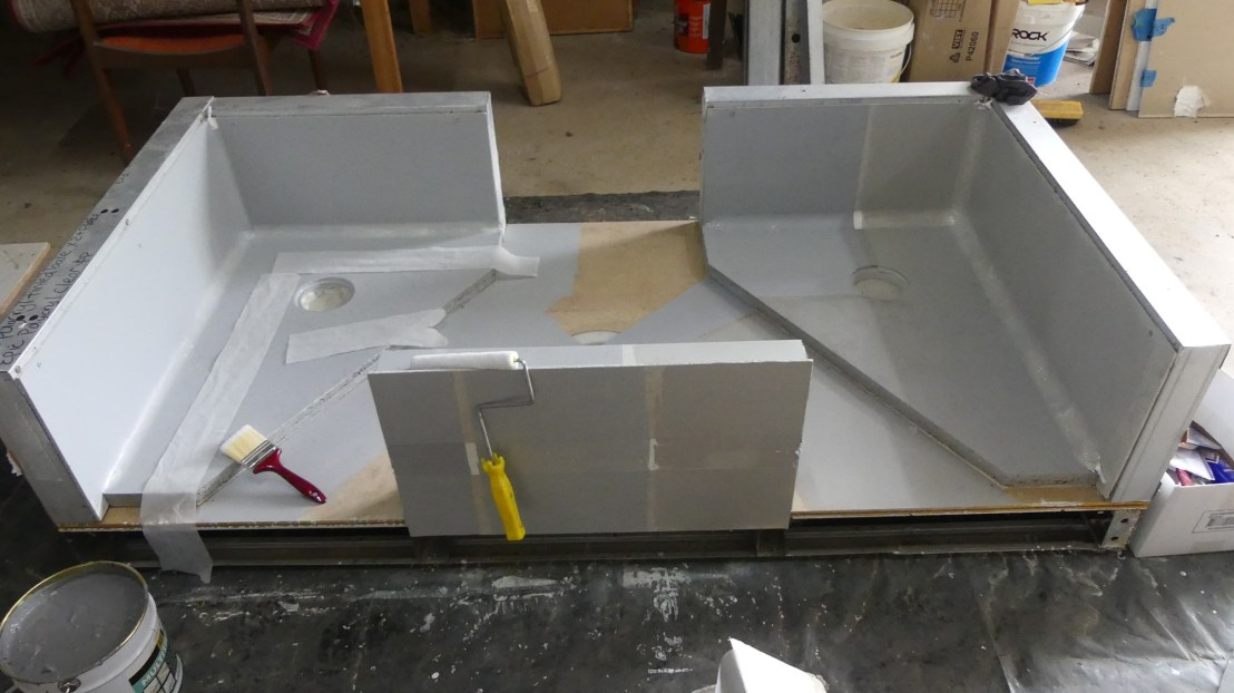 Waterproofing memberane test setup, April 2020.