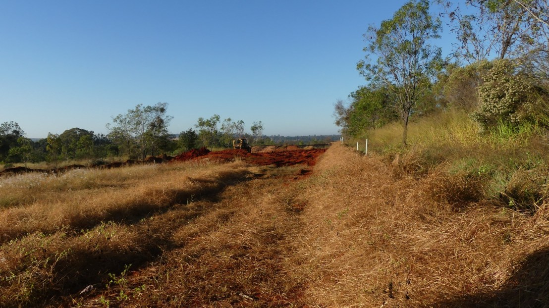 Earthworks recommence at the terraces, April 2020.