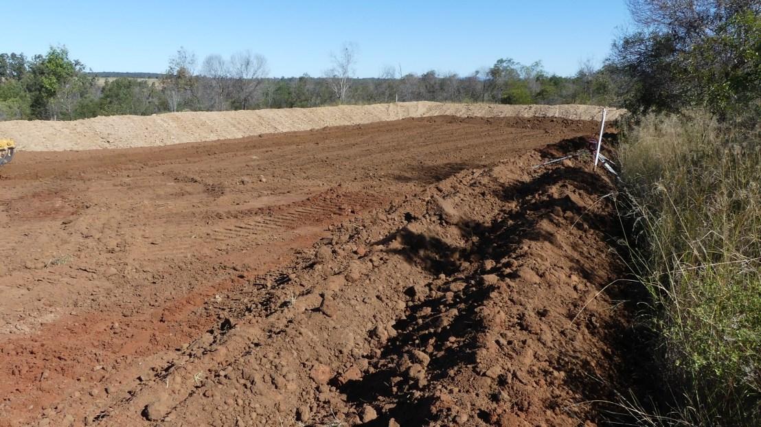 Terrace earthworks, May 2020.