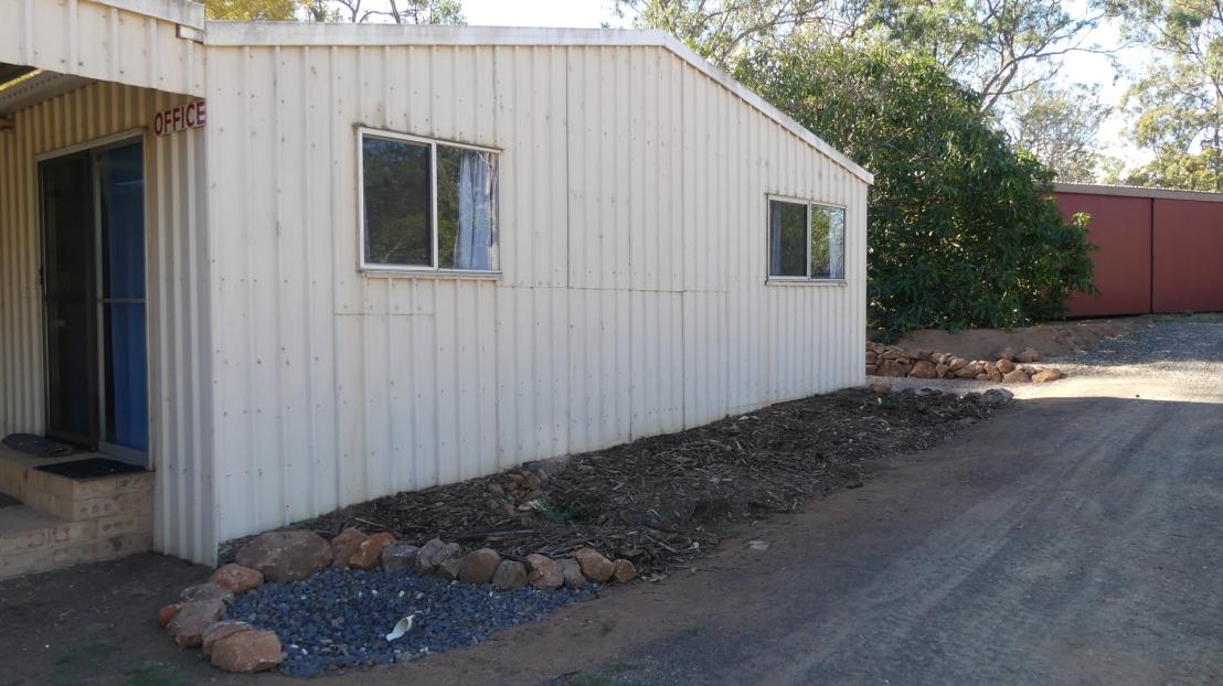 Hostel road side garden complete, April 2020.