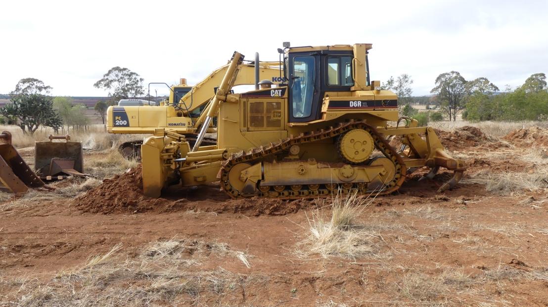 Dozer and excavator, May 2020.