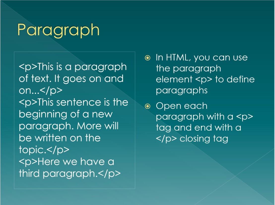 HTML Powerpoint presentation screenshot.