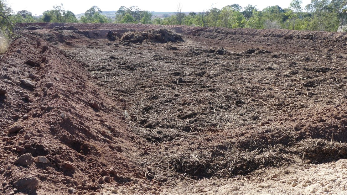 Mulch ready to rip, August 2020.