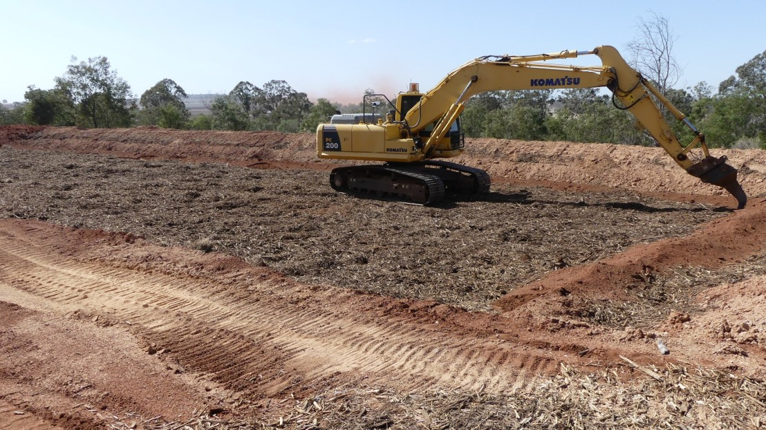 Excavator rips base of terrace, August 2020.