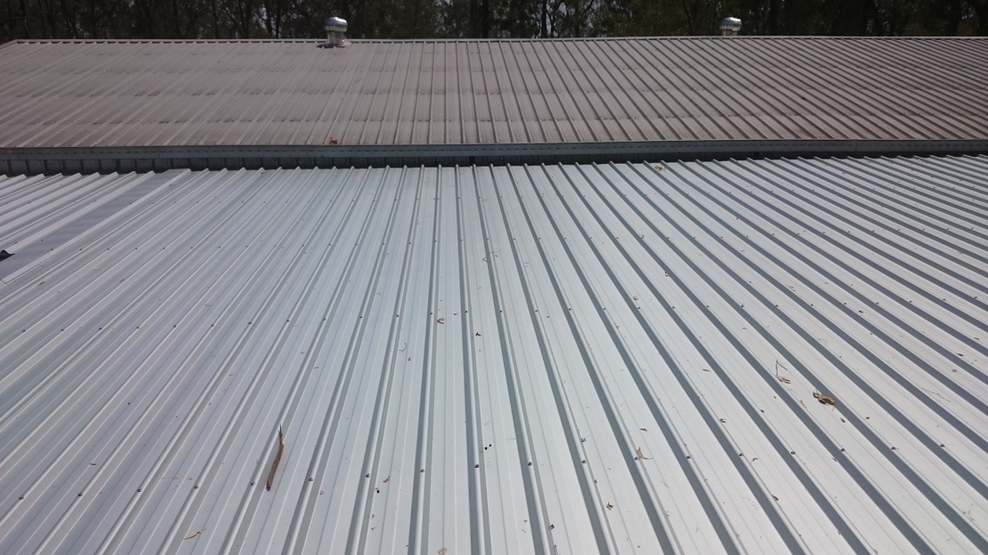Hostel roof after being replaced, September 2020.